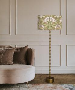 abażur art deco do lampy stojącej w kształcie cylindra