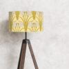 abażur żółty art deco na lampę stojaca cylinder