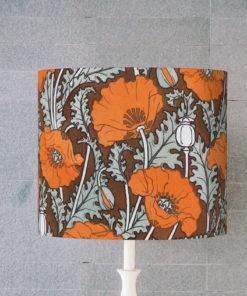 abażur brązowy art deco do lampy stołowej cylinder maki