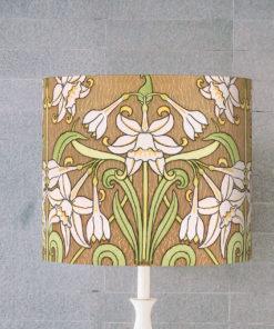 abażur art deco do lampy stołowej cylinder kwiaty