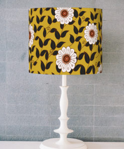 abażur do lampy musztarda cylinder