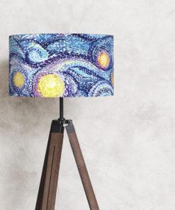 abażur niebieski do lampy podlogowej noc