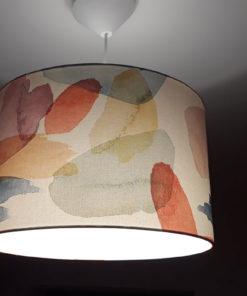 abażur do lampy podłogowej z materiału akwarela kształt cylindra