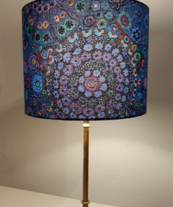 abażur niebieski na lampę cylinder