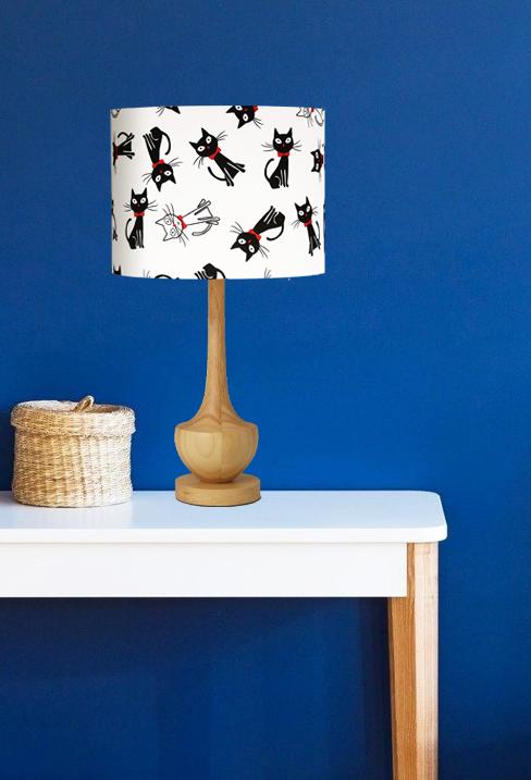 abażur biało-czarny do lampy stołowej biurkowej