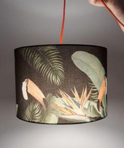 abażur czarny na lampę wiszącą dżungla