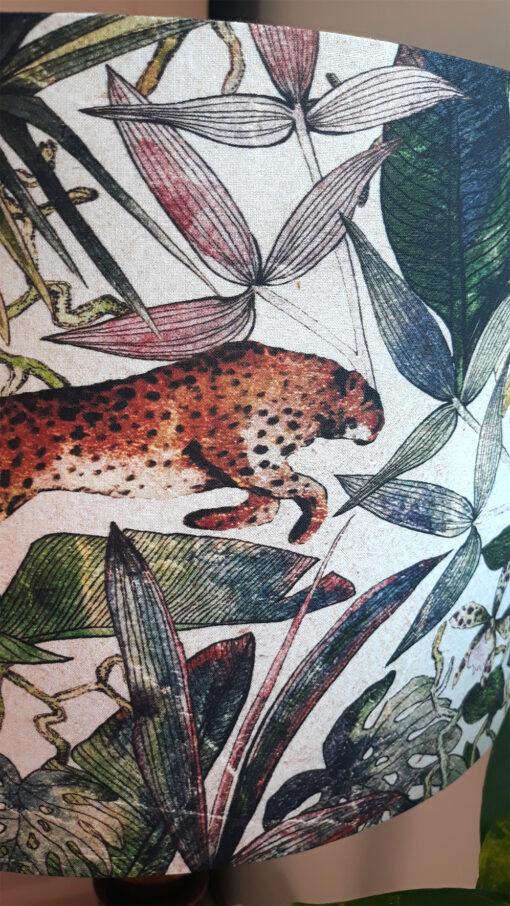 abażur na lampę podłogową dżungla na beżowym tle