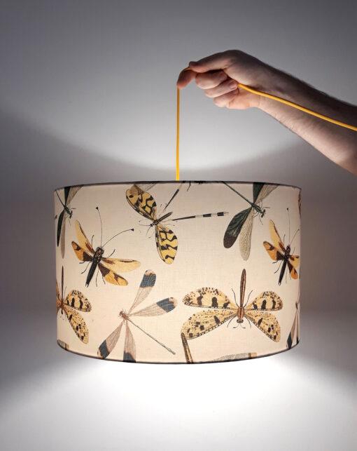 abażur beżowy do lampy ważki