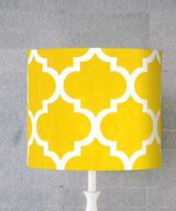 abażur żółty marokański do lampy stołowej cylinder