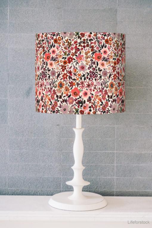 abażur do lampy stołowej w kwiaty