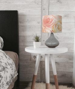lampa ceramiczna szara z abażuremlampa ceramiczna szara z abażurem