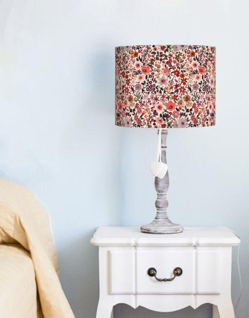 abażur do lampy w kwiaty