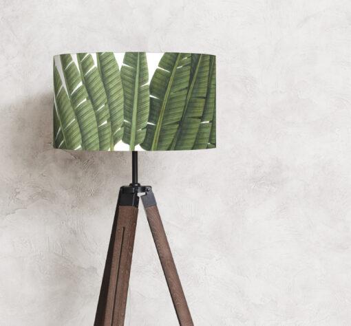 abażur liście tropikalne na lampę stojącą walec