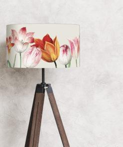 abażur do lampy podłogowej stojącej beżowy w tulipany