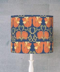 abażur niebieski dekoracyjny vintage na lampę