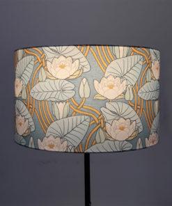 abażur do lampy art deco kwiaty