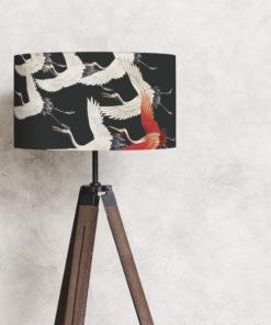 abażur czarny na lampę stojącą podłogową żurawie