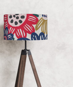 abażur na lampę kwiaty cylinder