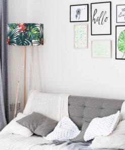 abażur na lampę rośliny, liście tropikalny