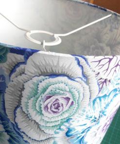 abażur na lampę nocną stołową niebiesko-biały