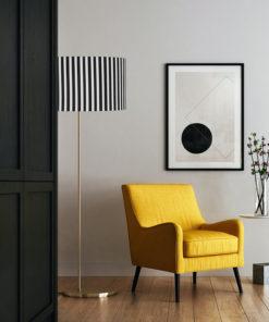 abażur do lampy podłogowej stojącej czarno-białe paski sklep