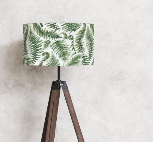 abażur do lampy stojącej zielone paprocie