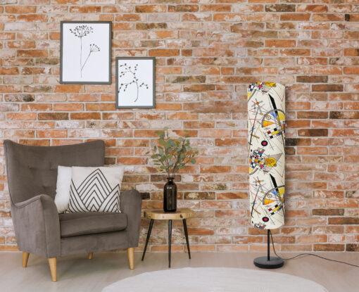 lampa podłogowa stojąca z abażurem