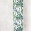 lampa podłogowa dekoracyjna z abażurem liście tropikalne