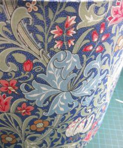 abażur niebieski do lampy nocnej stołowej vintage