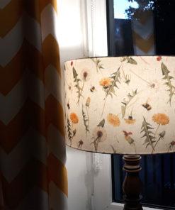 abażur cylinder na lampę dmuchawce