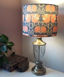 abażur niebiesko-czerwony na lampę stołową sklep