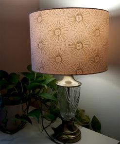 abażur różowy na lampę stołową