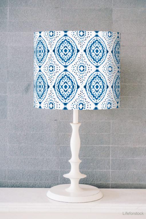 abażur biało-niebieski do lampy sklep