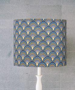 abażur art deco niebieski