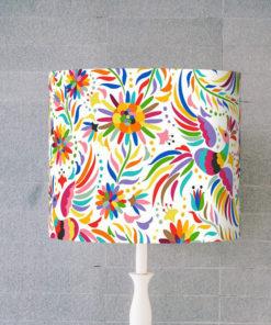abażur kolorowy folk na lampe stołową cylinder