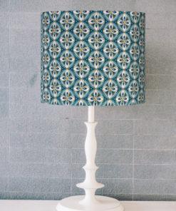 abażur dekoracyjny niebieski