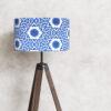 abażur niebieski shibori walec