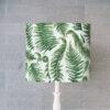 abażur biało-zielony na lampę paprocie