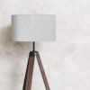 abażur szary cylinder do lampy podłogowej stojacej