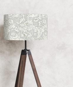 abażur szary vintage william morris do lampy podłogowej