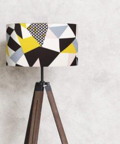 abażur, klosz na lampę geometryczny wzór