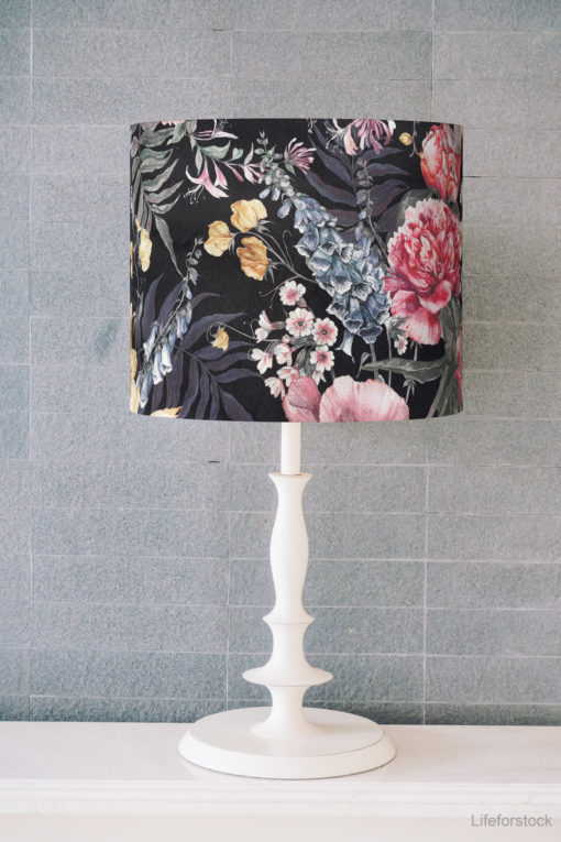 abażur klosz czarny na lampę nocną stołową cylinder