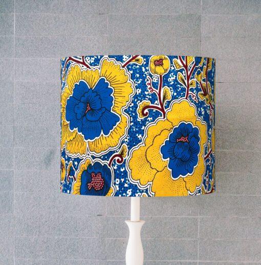 abażur, klosz żółto-niebieski na lampę sklep