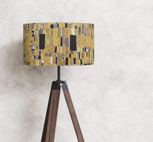 klosz abażur żółto-czarny klimt na lampę