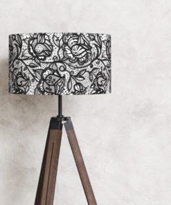 abażur klosz biało-czarny na lampę
