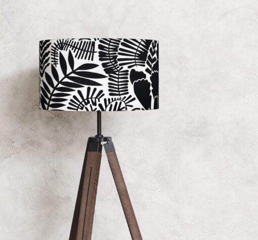 abażur klosz na lampę czarno-biały