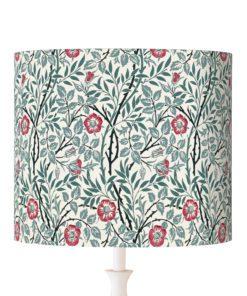 abażur klosz na lampę kwiaty rośliny niebieskie cylinder