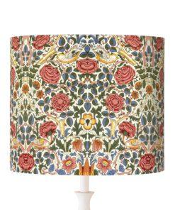 abażur na lampę klosz vintage kwiaty ptaki