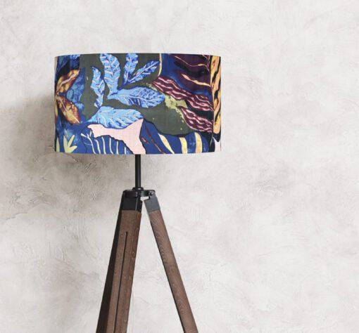 abażur klosz liście rośliny do lampy stojącej