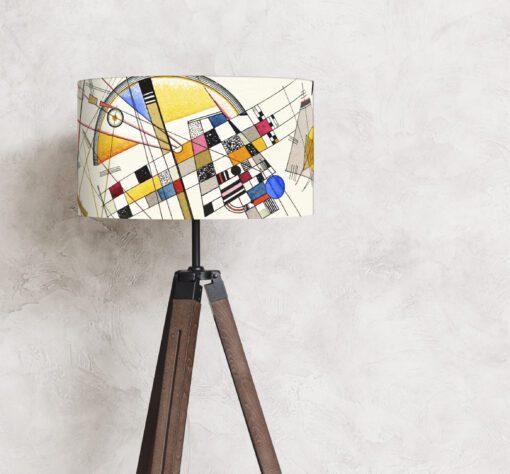 abażur klosz do lampy podłogowej beżowy
